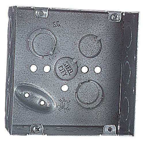 "STC 72171-1/2&3/4E 4-11/16"" 1/2"" & 3/4"" KO SQ BOX TP556"