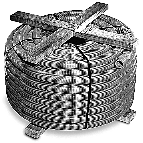 PVC 11811T-250 2 INCH P&C FLEX 250 FT W/TAPE