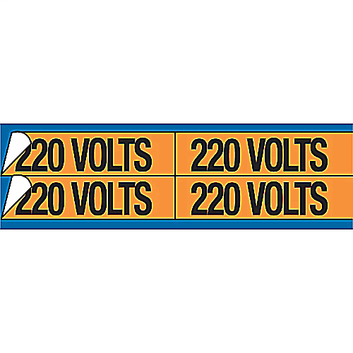 E-Z-Code,WDT-5021,VNYL MARKER-1-1/8X4-1/2 L480 VOLTS