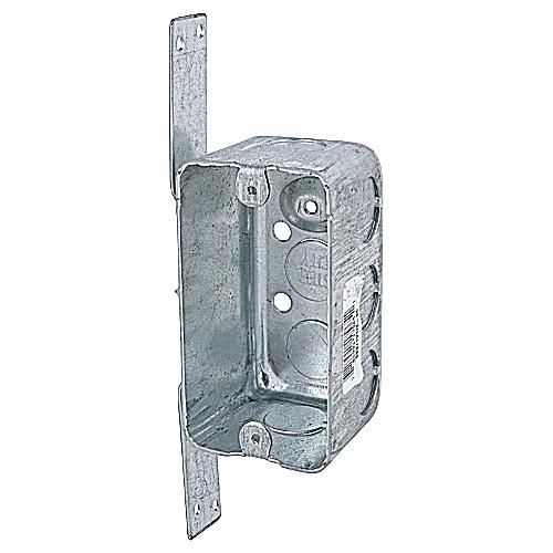 "Steel City 58371-V-1/2-25 Steel Handy/Utility Box, 4"" x 2-1/8"" x 2-1/8"", 14.5 cu.in. w/ 1/2"" KOs and ""CV"" Bracket"
