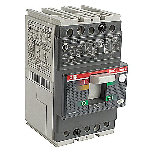 Thomas & Betts T1N020TL20 Amp 3 Phase Thermal Magnetic Breaker