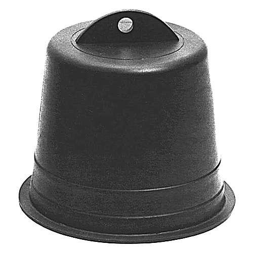 CL P258JT PLG 2IN BLACK POLY