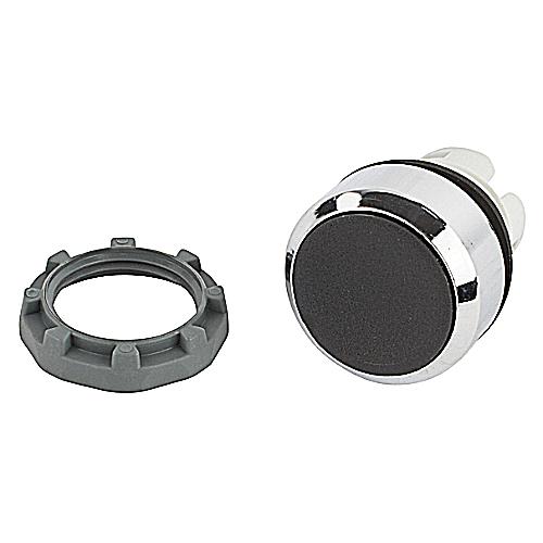 Thomas & Betts MP1-30B Black Momentary Flush Metal Push Button with Holder