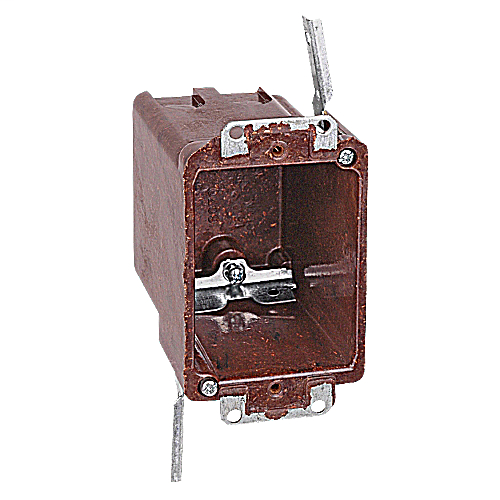 Carlon 6070-4-UB 3-3/8 x 2-3/8 x 3-1/4 Inch 18cu.in 1-Gang Non-Metallic Swing Bracket Outlet Box