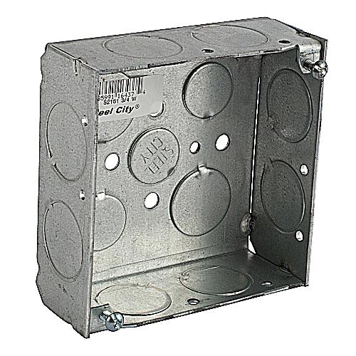 SC 52151-3/4-W 4SQUARE BX,STL,21CU,