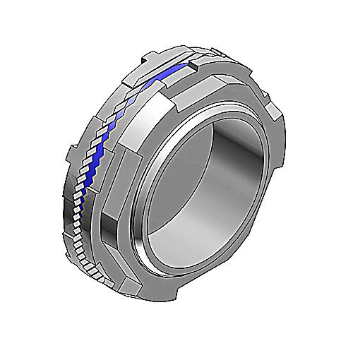 T&B Industrial Fitting,H100CAPA,1 INCH CAP-OFF AL.