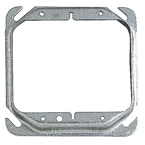 "Steel City 52C18-5/8-25 4"" Steel Square Box Device Cover, 5/8"" Raised, 7.3 cu.in."