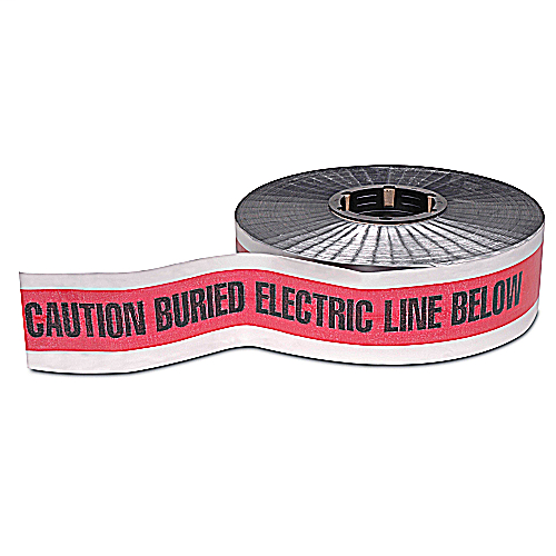 EZCode NAF-0600 3 Inch x 1000 Foot Detectable Electric Utility Tape