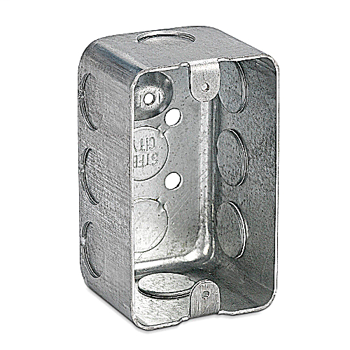 Steel City 68371-1/2 4-1/8 x 2-1/2 Inch Dimension 18.8cu.in Steel Utility Box with 1/2 Inch Knockout