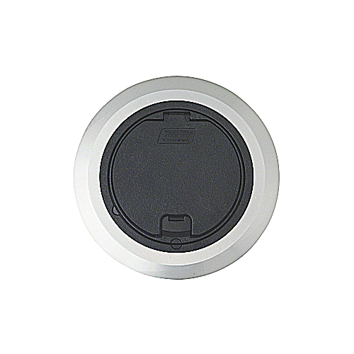 Steel City 68R-CST-ALM Black Round Recessed Cover with Aluminum Flange