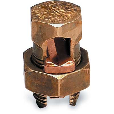Thomas betts blackburn frost electric 8 awg stranded split bolt connector bronze 8 str 10 solid copper wire bronze greentooth Image collections