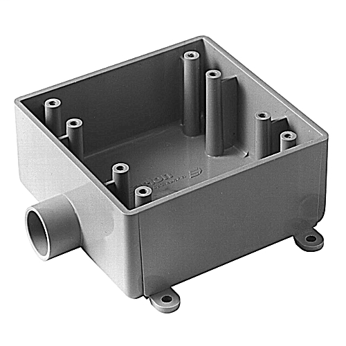"PVC2FS050 2G BOX W/1/2"" HUB CAR E9802D"