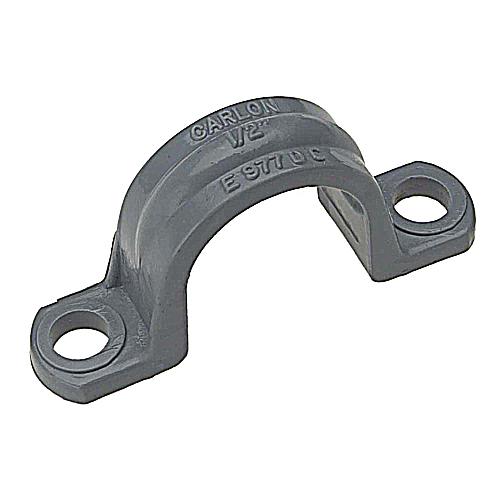 "PVC1502HCLIP 1-1/2"" 2-HOLE PVC CLIP CAR E977HC"