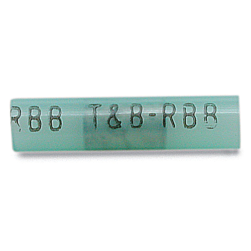 Thomas & Betts 2RB14 16 to 14 AWG 1.19 Inch Blue Electrotinned Copper Nylon Insulated Butt Splice