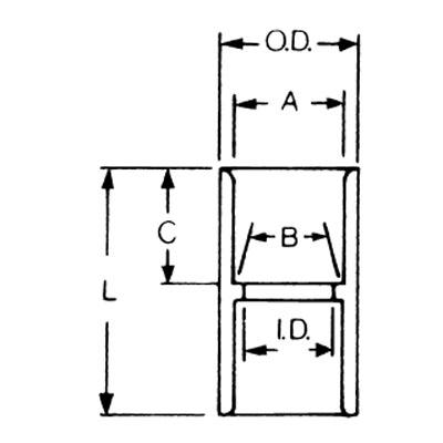 PVC C212 E940K 2-1/2IN PVC COUPL CP25 TOP 500 ITEM