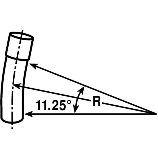 """PVC UA3AN 4"""" SCH 40 STD 11-1/4 DEG ELBOW EL40011-1/4"""