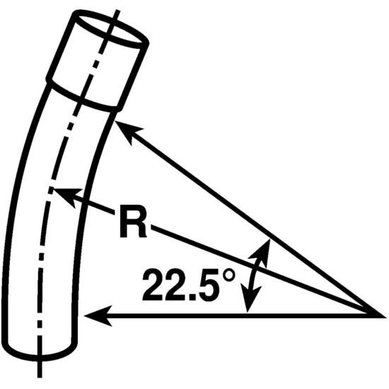 PVC UA5AF 1 INCH SCH 40 STD 22-1/2 DEG ELBOW