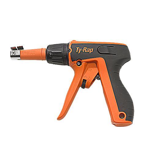 Thomas & Betts ERG120 Ergonomic Hand Installation Tool, for Nylon Cable Ties, 50-120 lbs, 4.67mm-7.64mm Tie Widths