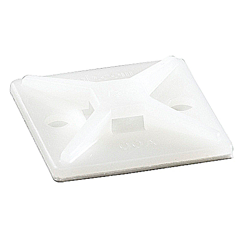Ty-Rap TC5345A 1 Inch Natural Adhesive 4-Way Cable Tie Mounting Base