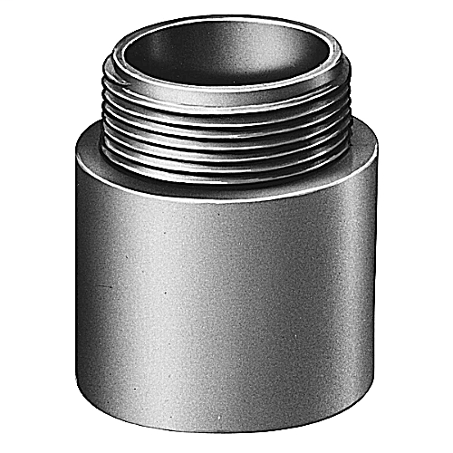 Male Terminal Adapter, Size 1-1/2 Inch, Length 2.105 Inches, Outer Diameter 2.188 Inches, Material PVC, Color Gray, For use with Schedule 40 and 80 Conduit, Pack of 25