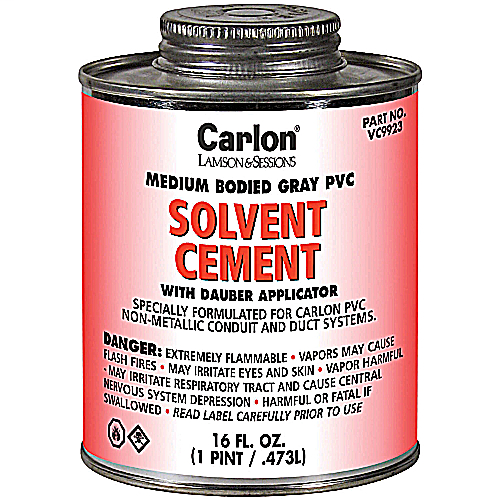 PV VC9922 PVC Medium-Bodied Gray Cement 1-Quart (12089) (821205)