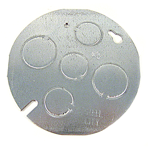 Steel City CBP Steel Concrete Box Cover Plate with 1/2 and 3/4 Inch Knockouts