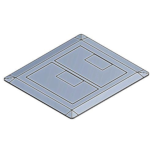 Multi-Gang Rectangular Floor Boxes & Covers - E9762S