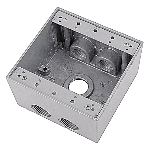 Red Dot 2IHD5-3 5-Hole 2-Gang Deep Universal Device Box