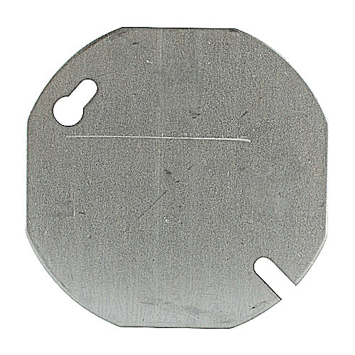 Steel City 24C1-25 3-1/2 Inch Steel Blank Flat Round Box Cover