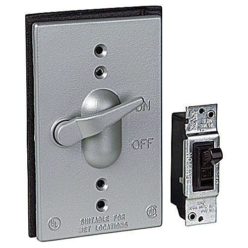 T&B CCT-1-20 1GANG WEATHERPROOF LEVER SWITCH COVER W/ 1-20AMP SINGLE POLE SWITCH