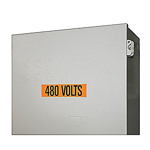VNYL MARKER-1-1/8X4-1/2 L480 VOLTS