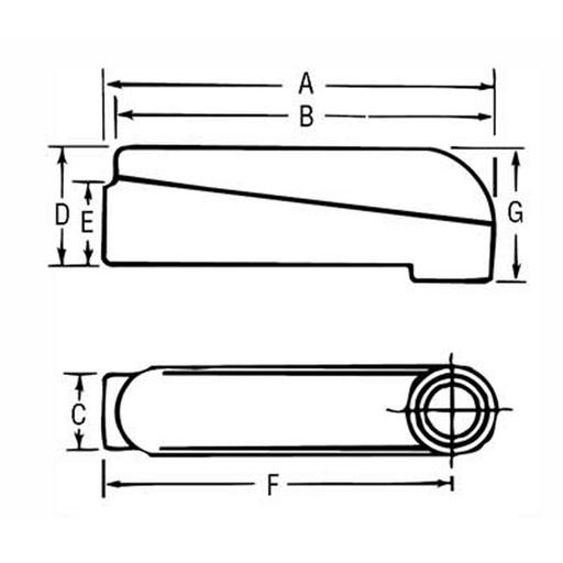 RDOT MALB-10 4 INCH MOGUL PULLING ELBOW
