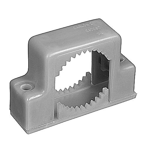 "PVC E978GC-CAR 1-1/4"" 2 HOLE SNAP STRAP-BOX"