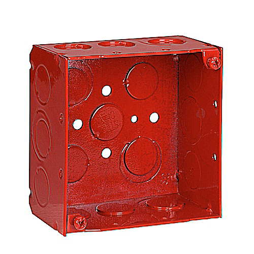 Steel City 52171 1234RD 2-1/8 Inch Deep 4 Inch Side Square Red Box