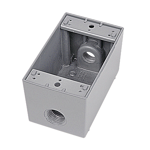RED-DOT IHD3-3 1GANG 3-HOLE 1-IN HUBS WEATHERPROOF BOX