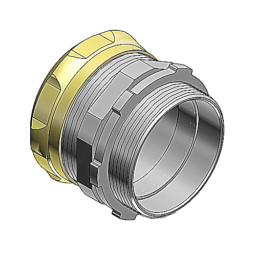 """Steel City TC116A-RT 2"""" EMT Compression Connector - Non-Insulated - Raintight"""