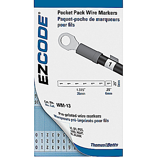 "EZCode WM-0-9M 460 Markers 3 x 5 Inch Vinyl Cloth ""0-9"" Wire Marker Book"