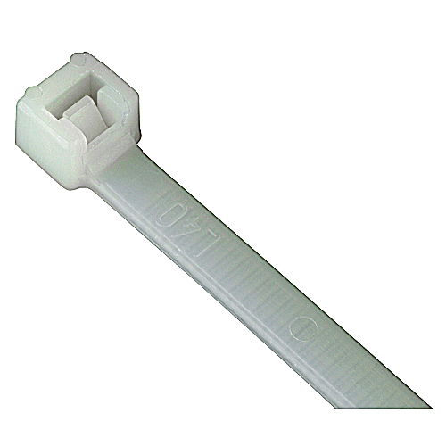 Catamount L-11-50-9-C 100/Pack 11 Inch 50 lb Tensile Strength Natural Nylon 6/6 1-Piece Cable Tie