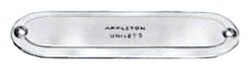 "Appleton K350&400 3-1/2"" & 4"" Conduit Body Cover Form-35 Steel"