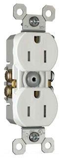 Legrand 3232-TRW Tamper-Resistant, Duplex Grounding Receptacle. 15 Amp, 125 Volt, White