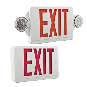 Quantum Thermoplastic Exit/Unit Combo, LED, Red, SKU - 186HU9