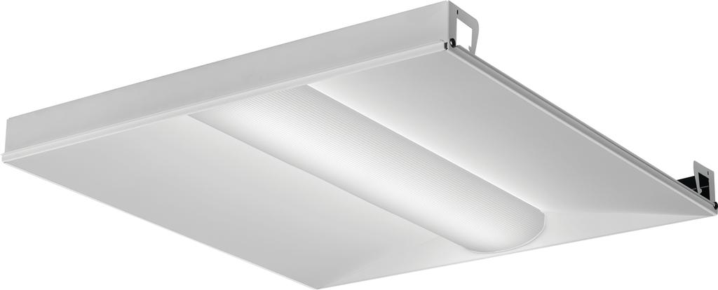 Mayer-Basket LED lensed troffer 2x2, Nominal 3300 lumens, Acrylic diffuser, linear prismatic lens, 80+ CRI, 3500K-1