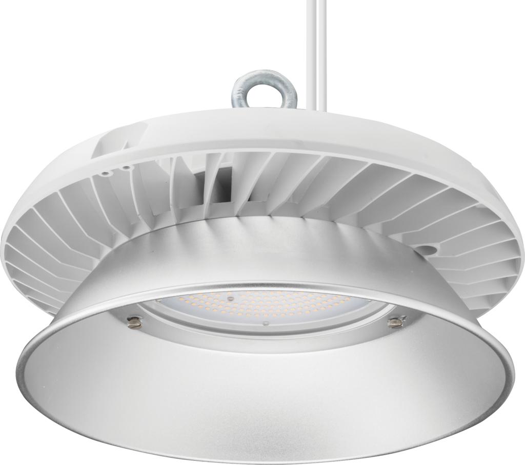 Mayer-LED Economical Round Bay Light, 24,000 nominal lumens, 5000K, 80 color rendering index, White finish-1