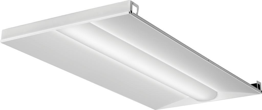 Mayer-Basket LED lensed troffer 2x4, Nominal 4000 lumens, Acrylic diffuser, linear prismatic lens, 80+ CRI, 4000K-1