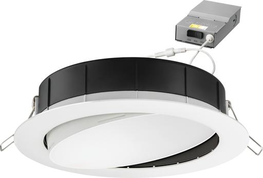 "6"" wafer-thin LED downlight, Low lumen, LED, Switchable White, 90 CRI, Matte white"