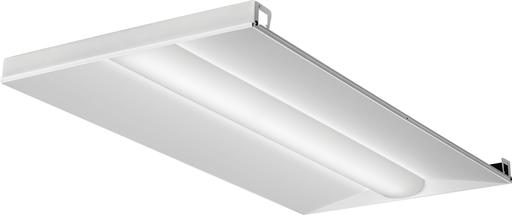 Mayer-Basket LED lensed troffer 2x4, Nominal 4000 lumens, Acrylic diffuser, linear prismatic lens, 80+ CRI, 3500K-1