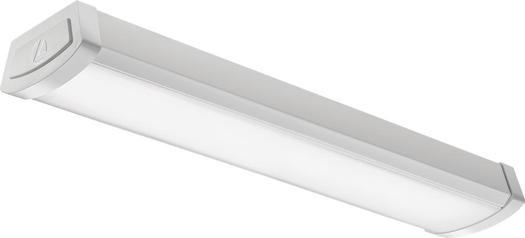 Mayer-FMLWL 2-Foot 120 Volt Linear Flush Mount 4000K Cool White LED Wraparound, 1,200 Lumens, 0-10 Volt Dimming, White-1