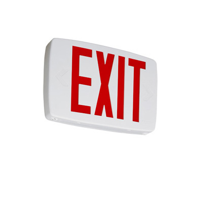 Mayer-Quantum White LED Exit Sign Emergency Backup with Red Letters-1