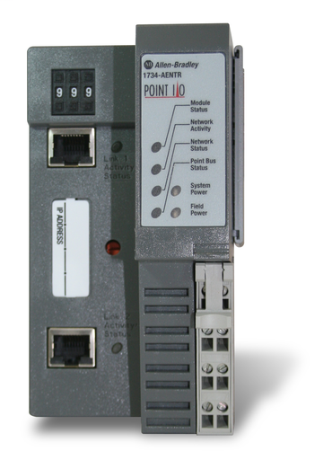 AB 1734-AENTR 24V DC DUAL PORT POINT ETHERNET ADAPTER