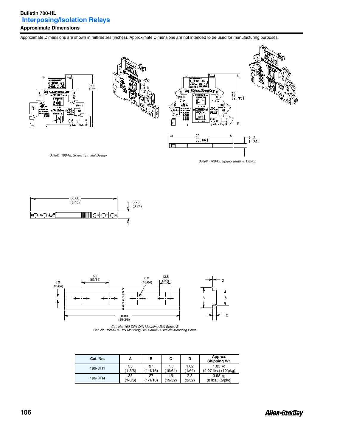 A-B 700-HLT2U1 GP Terminal Block Re on